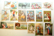 Antique Victorian Advertising Trade Cards Lot Of 15