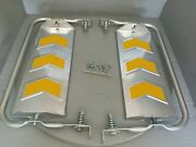 Re-trac Truck Mirrors W/ Nuts And Bolts Raised Chevrons No. 159 56zz16