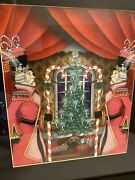 Katherine's Collection Framed Nutcracker Drawing Watercolor Rare