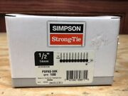 Simpson Strong-tie Pdpas-50k 1/2 X .157 Powder-driven Collated Pins 100ct X11