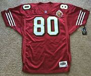 Nwt Vtg Authentic Sf Niner 49er Wilson Red Jersey Jerry Rice 80 50th Patch 50