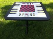 Vintage Card Poker Table Monte Carlo 4 In 1 Game Table