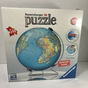 New Sealed Ravensburger 3d Puzzleball Globe 540 Piece Puzzle With Stand