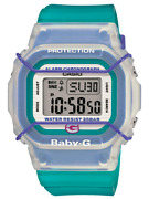 Vintage Retro 90s Style Casio Baby-g Bgd500-3 Watch Rare Discontinued Clear Blue