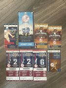 New York Yankees World Series Ticket Lot Including 2000 City Hall Parade Ticket