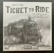 Ticket To Ride Demo, Rare, Unplayed, Cards In Shrink, Not For Retail,collectible