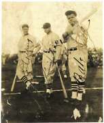 Babe Ruth Lou Gehrig Jimmie Foxx Signed Autographed 4x5 Tour Of Japan Photo Jsa
