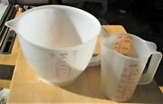 Vtg Tupperware 2 Cup Measuring Pitcher 1669 And Mix N Stor And 8 Cup Pitcher 500