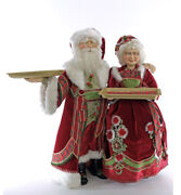 Katherineand039s Collection Mr/mrs Santa Claus W/ Tray Server Display 28-928574 New