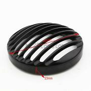 Black 5.75 Cnc Headlight Grill Cover For Harley-davidson Sportster Xl 883 1200