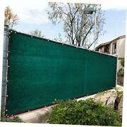 6and039 X 50and039 Green Fence Privacy Screen Cover Windscreen With Heavy Duty Brass Gro