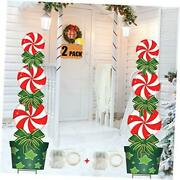 Christmas Outdoor Decorations 2 Pack 47in Candy Xmas Yard Stakes Signs With S
