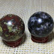 2pc 41mm Natural Kinds Of Gemstone Ball Combinations Healing Orb Gem Stone T907