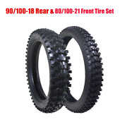 18 110/90-18 And 80/100-21 Rear+ Front Tyre Tire Tube For Dirt Pit Trail Bike