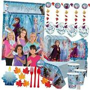 Mega Frozen 2 Birthday Party Supplies Pack For 16 With Frozen 2 Plates, Cups, Na