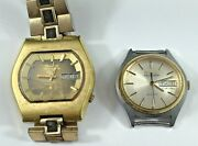 Two Bulova Accutron Watches, For Parts Or Repair, One Is Quartz Model