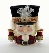 Katherine's Collection Nutcracker Candy Container Christmas New 28-928478