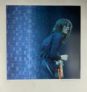 Jimmy Page Signed Auto 30x33 Artist Proof Lithograph Led Zeppelin Beckett Bas