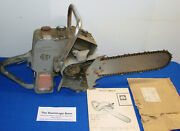 1960 David Bradley Sears Chainsaw --- 917.60019 -- For Collector Repair / Parts