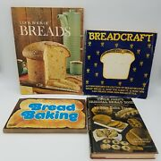 Lot Of 4 Vintage Bread Baking Books Printed In The 1970s Breadcraft/uncle Johnand039s