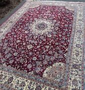 Fine Quality Handmade Chinese Area Rug 8and039x11and039 Wool And Silk High Knot Count Sale
