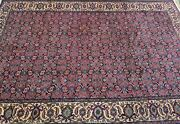 Vintage Fine Quality Handmade Turkish Herati Area Rug 7and039x10and039 Allover Pattern