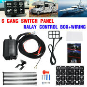 6 Gang Switch Panel Led Light Electronic Relay Control System For Suv Truck Boat