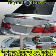 2013-2017 Honda Accord 4dr Factory Style Spoiler 2-post Wing W/led Primer