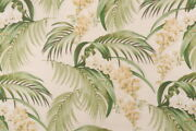 4 Drapes Tommy Bahama Orchid Blooms In Lemongrass Barkcloth Designs 40and039s Genre