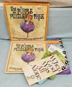 Childrens Bible Stories Purple Puzzle Tree 1 - Record 33lp And Books 1-6