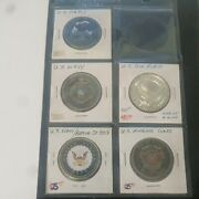 Lot Of 5 Military Style Challenge Coin/medallions Army-navy-air Force-marines