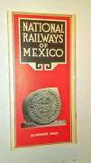 National Railways Of Mexico 1964 Summer Timetable