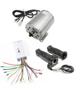 1800w 48v Dc Brushless Electric Motor 5200rpm Controller Throttle Grips Scooter