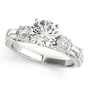 Solid 950 Platinum 1.67 Ct Real Round Diamond Wedding Ring For Women Size 7 8 9