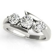 Christmas Gift 1.50 Ct Real Diamond Engagement Ring Solid 950 Platinum Size 6 7