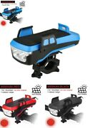 Led Bicycle Light 5in1 Front Taillight Usb Solar Rechargeable Lamp Phone Holder