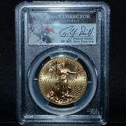 2013 50 Gold American Eagle ✪ Pcgs Ms-70 ✪ 1 Oz Philip Diehl Signed ◢trusted◣