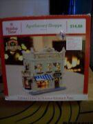 Holiday Time Lighted Christmas Village Apothecary Shoppe Vintage Victorian A-832