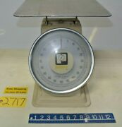 Pelouze Tabletop Scale Model 10100 - 12 X 12 Table Surface 14.5 Tall 100 Cap