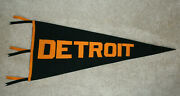 Scarce Antique 1910and039s Detroit Tigers Over-sized Three Tassel Baseball Pennant
