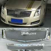 For 2013-2017 Xts Cadillac Chrome Front Mesh Bumper Grilles Upper And Lower Grille