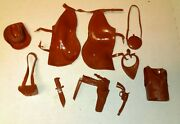 Marx Johnny West 1965 Accessories Knife Handgun Saddle Hat Best Of The West Lot