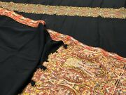 Antique Kashmir French Paisley Shawl Loom-woven 19th C 54andrdquo X 118andrdquo