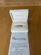 Breuning White And Yellow Gold Ring With Certificate