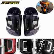 Led Lower Grill Light Solid Plates Cover Lower Vented Fairing For Harley Touring