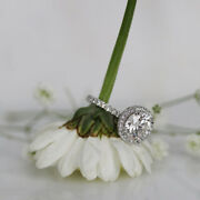 Beautiful 1.20 Ct Natural Diamond Anniversary Ring Solid 14k White Gold Size 6 7