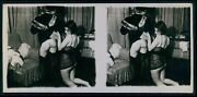 K10 Biederer Small Stereoview Photo Stereo Card Nude Woman 1920s Gelatin Silver