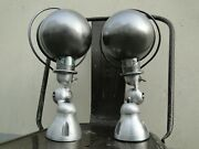 Pair Of Vintage French Modernist Industrial Jielde Sconces Desk Lamps Wall Lamps