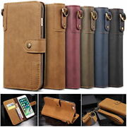 Leather Wallet Magnetic Flip Cover Case For Iphone 11 12 5 7 8 Pro Max