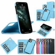 For Iphone 12 Pro Max X 8 7 Se 2020 Leather Wallet Magnetic Flip Cover Case